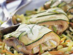 Fischwickel mit Zucchini ist ein Rezept mit frischen Zutaten aus der Kategorie Fisch. Probieren Sie dieses und weitere Rezepte von EAT SMARTER!