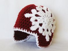 CROCHET PATTERN Let It Snow Beanie (5 sizes included: newborn-adult) Permission to sell finished items