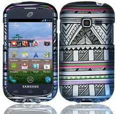 Antique Aztec Rubberized Hard Case Samsung Galaxy Centura S738c Discover S730G