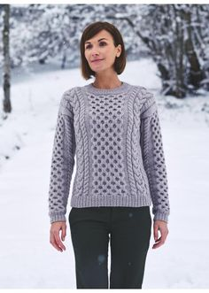 Cat. 16/17 - #305 Cable patterned sweater Patterns