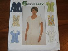 Simplicity 8041 Misses Darted Blouse Pattern