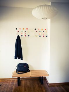 Eames Hang It All, Nelson Bench, Nelson Saucer Lamp Pendant Foyer | Flickr - Photo Sharing!
