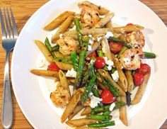 21 Day Fix: Shrimp with Asparagus, Cherry Tomatoes and Goat Cheese | Simply Gourmet in Southie