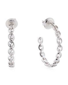 Made In Italy 18k Gold White1973 G Hoop Earrings