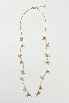 Love this dainty necklace.. must match with everything.    Candy Flutter Necklace #anthropologie