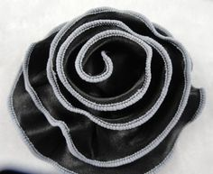 10pc Big Satin Cabbage Flowers Appliques Diy Black *** Click on the image for additional details.