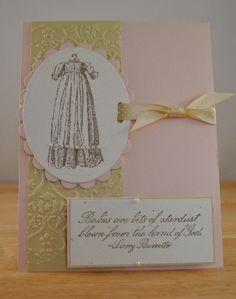 cute christening card