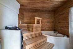 Sisustus  - Sauna - Perinteinen Finnish Sauna, Saunas, Spa, Home And Living, Bathtub, Bathroom, Ideas, Steam Room, Sauna Ideas