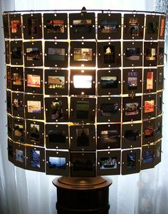 Slide Lampshade - I want to make one of these out of my parents' old slides.