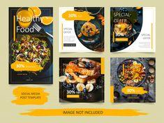 Food Graphic Design, Food Poster Design, Food Design, Menue Design, Fb Banner, Facebook Cover Template, Page Layout Design, Instagram Banner, Flyer Design Inspiration