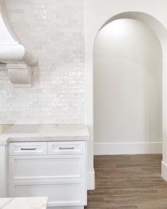 Whenever you can, put arches in your doorways! They make a big statement without being too overwhelming over other fun structural elements! Doorway, Arches, Kitchen Design, Bathtub, Mirror, Studio, Big, Furniture, Home Decor