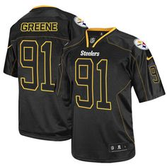 3aa52760d92 Kevin Greene Men's Elite Lights Out Black Jersey: Nike NFL Pittsburgh  Steelers #91 Nhl