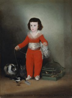 Goya (Francisco de Goya y Lucientes) (Spanish, 1746–1828). Manuel Osorio Manrique de Zuñiga (1784–1792), possibly after 1792. The Metropolitan Museum of Art, New York. The Jules Bache Collection, 1949 (49.7.41) | Goya may have intended this portrait as an illustration of the frail boundaries that separate the child's world from the forces of evil or as a commentary on the fleeting nature of innocence and youth. #OneMetManyWorlds