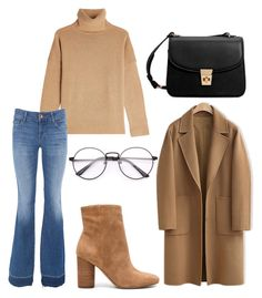 """Nude colors."" by djamilladjamilla on Polyvore featuring mode, The Kooples, J Brand, WithChic, Sam Edelman en MANGO"
