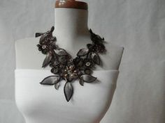 Purchase Eco Friendly Brown Collar Necklace from Maya's Ideas on OpenSky. Collar Necklace, Collars, Eco Friendly, Crochet Necklace, Brown, Jewelry, Maya, Crafty, Amazing