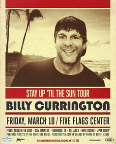 Don't forget that tickets go on sale for #BillyCurrington TOMORROW at 10:00AM #Dubuque! #CedarRapids #Iowa #IowaCity #Davenport #Bettendorf #Peoria #Madison #MadisonWisconsin #Platteville #Rockford #ChicagoCountry