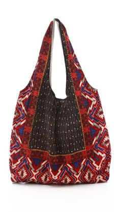 Click Image Above To Buy: Twelfth St. By Cynthia Vincent Challis Grocery Bag Fashion Moda, Fashion Bags, Textiles, Gypsy Bag, Ethnic Bag, Boho Bags, Fabric Bags, Sewing Notions, New Bag