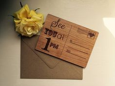 Personalised Wooden 'See You At…' Postcard