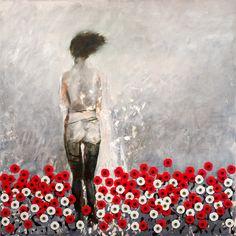 Noel Hodnett - Woman with Poppies