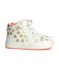 Gold polka dot sneakers