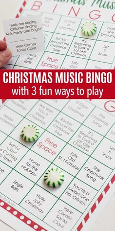 Printable Christmas Music Bingo with 3 Fun Ways to Play Test your Christmas music knowledge with this fun printable Christmas BINGO game! Perfect for holiday parties, classrooms, or even road trips, this Christmas bingo game is fun for the whole family! Christmas Bingo Game, Funny Christmas Games, Christmas Games For Family, Holiday Games, Old Christmas, Christmas Printables, Christmas Humor, Christmas Holidays, Holiday Parties