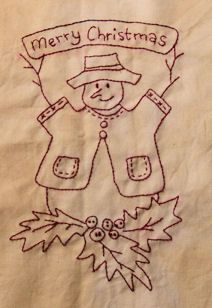 Vintage Embroidery Patterns Christmas Redwork Embroidery Pattern is Free--Free quilt patterns, applique also - Broderie Primitive, Primitive Embroidery, Primitive Stitchery, Folk Embroidery, Embroidery Transfers, Hand Embroidery Designs, Vintage Embroidery, Embroidery Stitches, Machine Embroidery