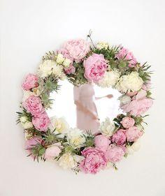 Fresh flower mirror