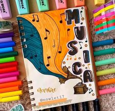 Bullet Journal Cover Ideas, Bullet Journal Banner, Bullet Journal Notebook, Bullet Journal School, Bullet Journal Inspo, Journal Covers, Notebook Art, Notebook Covers, Hand Lettering Alphabet