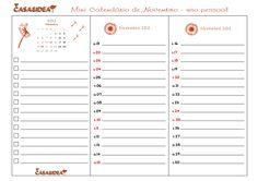 CASA: Mini Calendário de Novembro - Para imprimir - Freebie! :)