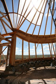 Amazing section of an Earthship in Phoenix, AZ.
