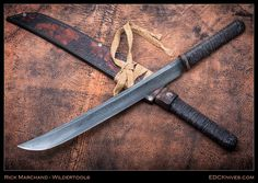 Here's a great hand forged piece by Canadian knife maker, Rick Marchand, - http://www.edcknives.com/wildertools-bush-waki/