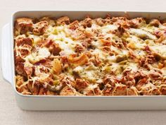 Leek and Artichoke Bread Pudding | Ina Garten