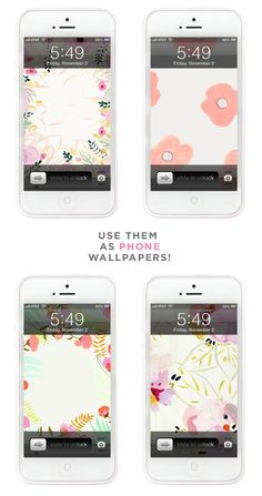 Free floral iPhone background wallpaper from Design Lovefest.
