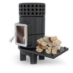 Round Stack – Side - Richmond Log Burners