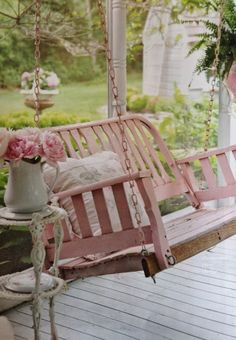 Shabby pretty porch!