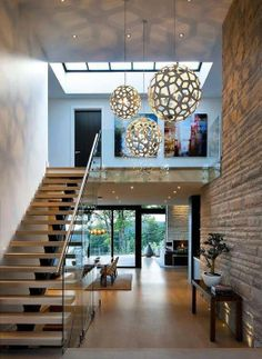 elegant modern house in west vancouver canada on world of architecture Elegant Contemporary House In West Vancouver, Canada architecture Modern Interior, Home Interior Design, Interior Architecture, Interior Decorating, Modern Exterior Lighting, Interior Stairs, Luxury Interior, Escalier Design, Sweet Home