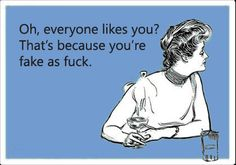 If only I had the guts to tag people. But seriously, no one is EVER liked by everyone. It's obvious is you aren't real.