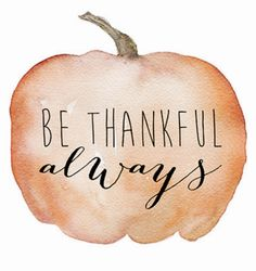 Thanksgiving is this week and it is that time of the year when we all start to realize what we are thankful for. I think we shouldn't just be thankful around Thanksgiving, but we should always be thankful and not take things for granted.
