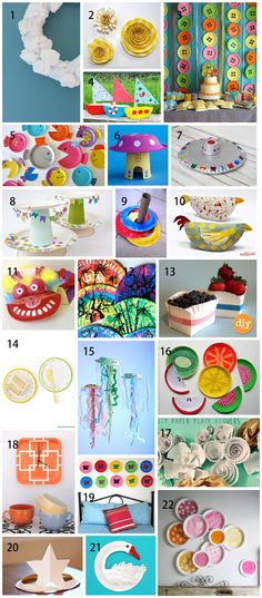 Paper plate craft roundup - thank you, Meaghan!