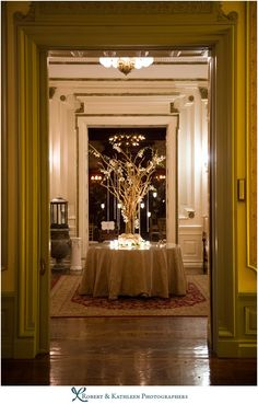 Wedding decor. Hanging Tea lights. The Bourne Mansion: Oakdale, NY: Erica & Nick's Wedding