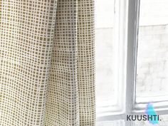 KUUSHTI ------------ Nat Yellow  Mustard Yellow Curtain panels, in a simple, Scandinavian criss-cross design. Beautiful cotton material - high end, designer grade Hand Made to order Rod pocket / pencil pleat tape The clever tape heading which allows you to use as a rod pocket OR pleat to your required fullness Lined & Weighted Hand Finished Measurements refer to a single curtain panel, laid out flat   LISTING IS FOR A SINGLE PANEL - ORDER QTY 2 FOR A PAIR   MADE TO MEASURE SERVICE…
