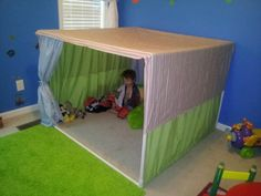 Fort/tent made from pvc pipe and sheets!