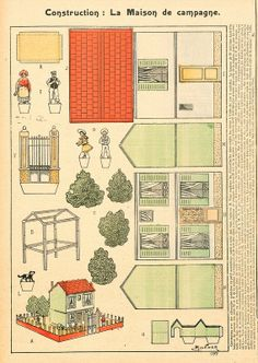 Paper house- All sizes Paper Doll House, Paper Houses, Imprimibles Toy Story Gratis, Fun Crafts, Paper Crafts, Origami, Paper Structure, Paper Towns, Glitter Houses