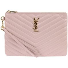 Clutch Clutch Women Saint Laurent ($385) ❤ liked on Polyvore featuring bags, handbags, clutches, pink, yves saint laurent, pink clutches, yves saint laurent purses, pink purse and pink handbags
