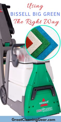 Using BISSELL Big Green The Right Way. Learn about the stellar features and how - Carpets Mag Best Vacuum For Carpet, How To Clean Carpet, Carpet Cleaner Vacuum, Carpet Cleaners, Deep Cleaning Tips, Cleaning Hacks, Bissell Big Green, Carpet Cleaning Machines, Floor Cleaning