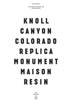 Diseño de alfabeto / Lettering / Tipografía experimental |  Título: SM Display |  Agencia/Estudio: Solo |  Cliente: Indigoods, Inc. |  Núm: 87
