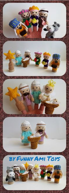 Crochet #Nativity #Finger #puppets Christmas toy Nativity set Christmas creche Christmas Story Holiday Gift Christmas decor Kids gift baby gift  There are handmade finger puppets for kids. There are adorable set of Nativity toys. They are crocheted from acrylic yarn and filled with fyberfill.   Finger Puppets are great gifts for kids. They are funny and amazing. Game with finger puppets develops children's imagination.