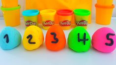 Learn Colors Play Doh Ice Cream Popsicles DIY Play-Doh Compilation Model...