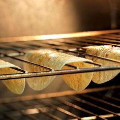 Turn Soft Tortillas into hard taco shells