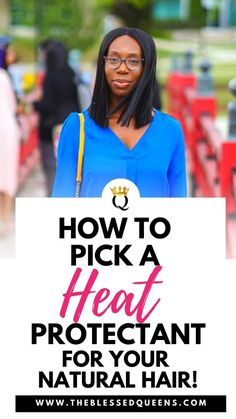 How To Pick The Best Heat Protectant For Natural Hair - The Blessed Queens Long Natural Curls, Natural Hair Updo, Natural Hair Growth, Natural Hair Styles, Kinky Curly Hair, Curly Hair Styles, Curly Bangs, Cowashing Natural Hair, Flat Twist Updo